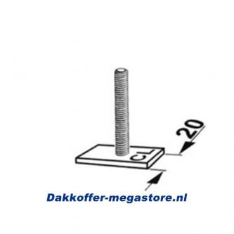dakdrager T-profiel adapter 20mm (4)